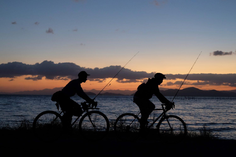 BikeToFishing in Lake Biwa