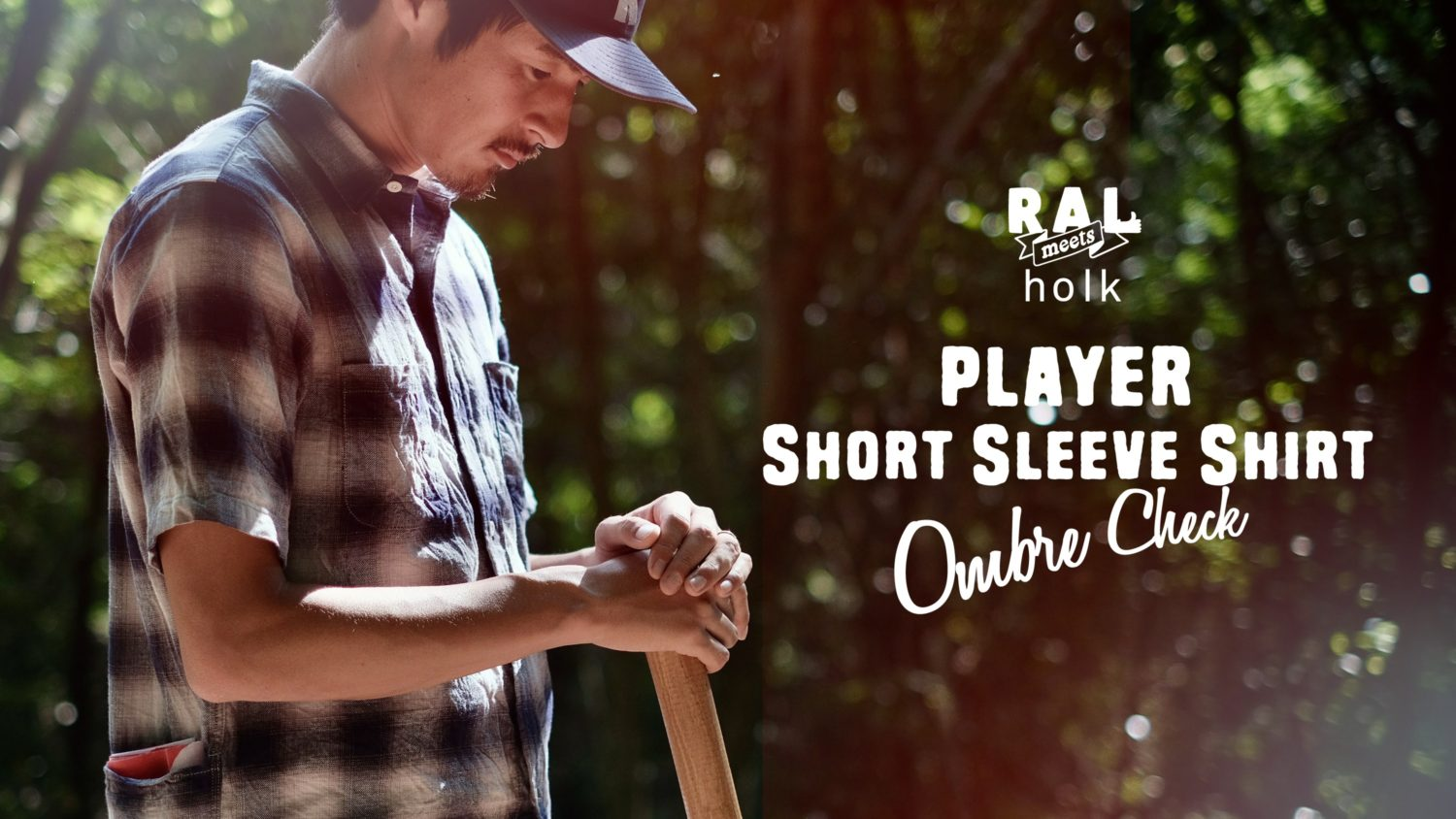 RAL meets holk / Player Short Sleeve Shirt Ombre Check